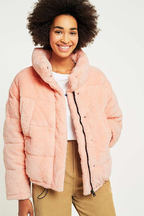 Pink Teddy Puffer Jacket - Light Before Dark  £85.00